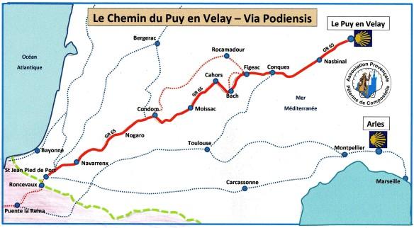 Chemin du Puy-en-Velay : Via Podiensis | Association Provençale Pour  Compostelle
